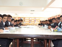 Students at CMR University Library