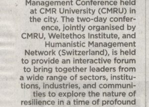 Management Conference held at CMR University