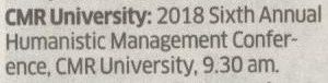 CMR Annual Humanistic Management Conference - Deccan Herald