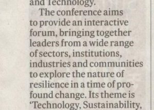 Humanistic management conference Featured in Deccan Herald