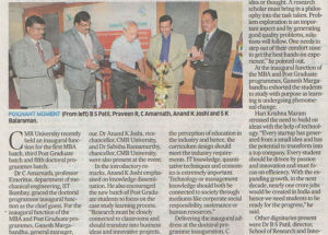 Embarking on a new journey Featured in Deccan Herald