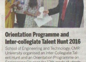 Orientation Programme And Inter-Collegiate Talent Hunt 2016