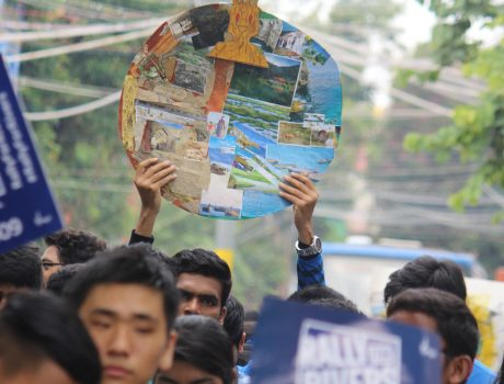 Rally for Rivers by CMR University students