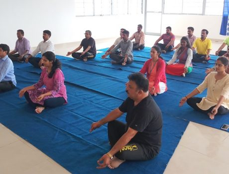CMRU faculty and staff members participated yoga day