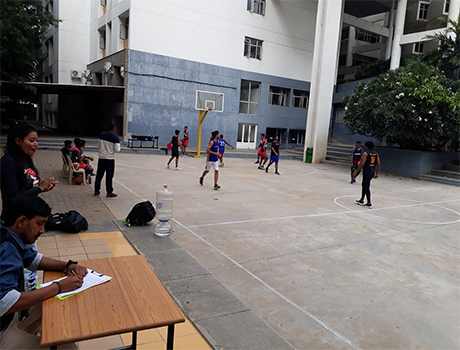 Basket ball playing CMRU Students
