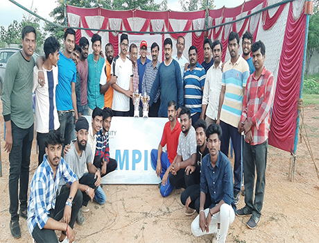 Cricket tournament at SoET, CMR University