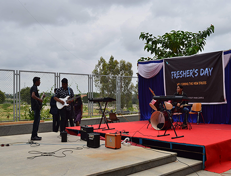Freshers day event at CMR University