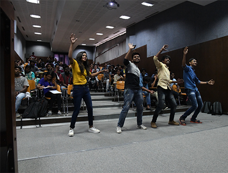 CMRU Students dancing at Gaming Day event