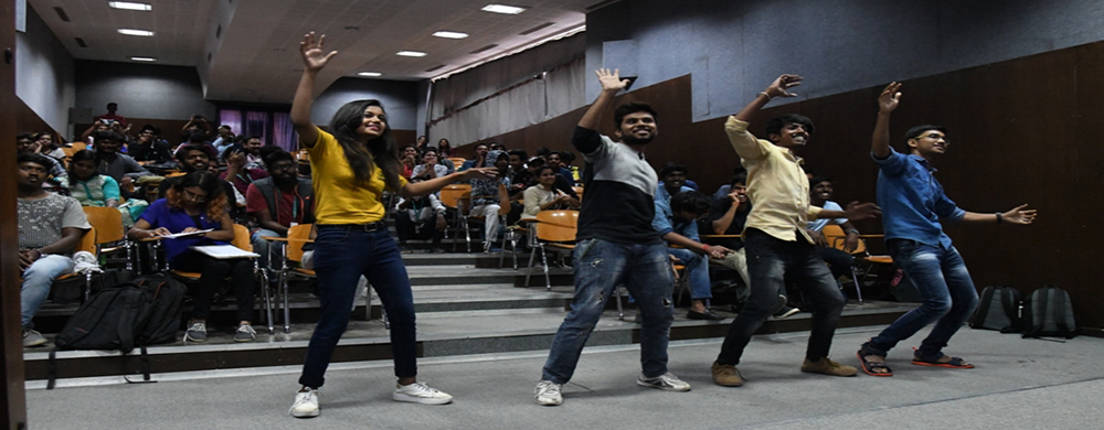 CMR University students dancing on Gaming Day event