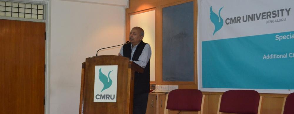 lalit verma speech at CMR University