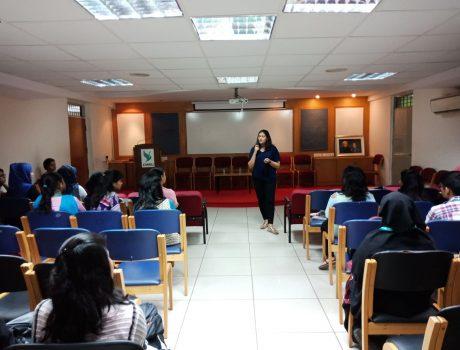 Natasha Vijay Interaction with CMR Students