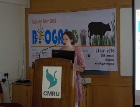 Bio gas workshop at CMR University