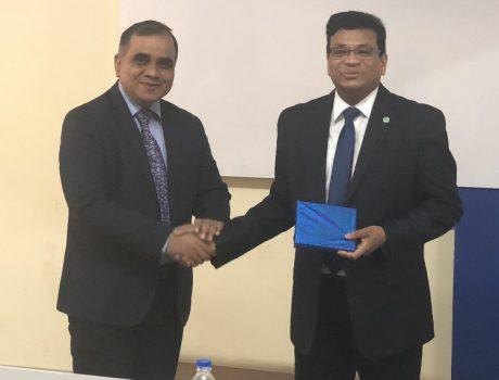 Dr Avinandan Mukherjee Memento with CMR Team